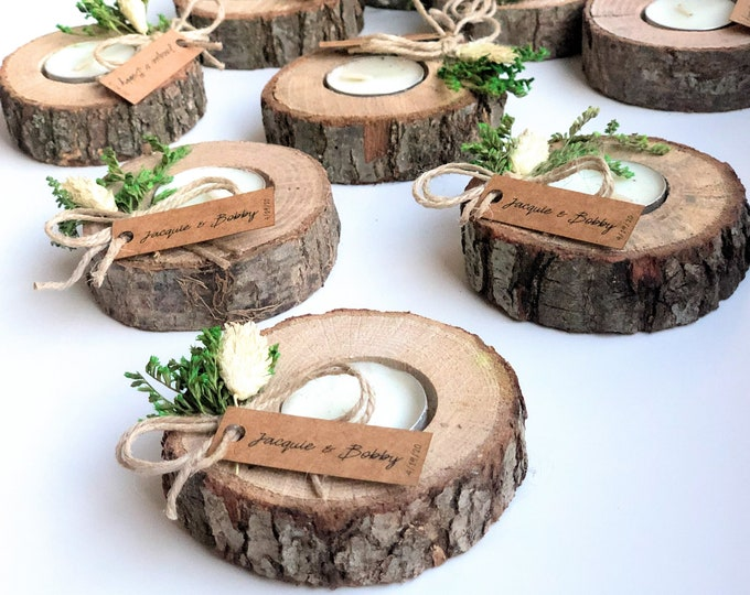 Rustic Wood Favors