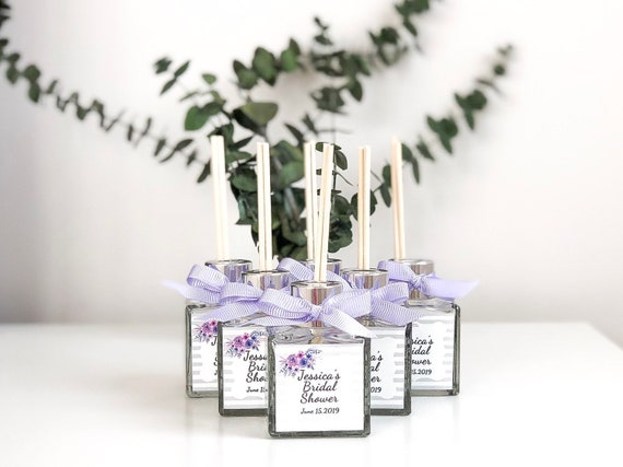 Reed Diffuser Unique Wedding Favors Bridal Shower Gift Idea Personalized Baby Shower Favors Gifts For Guests Lavender Glass Bulk Gifts