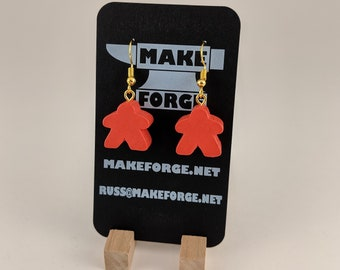 Handmade Meeple Earrings - Many colors available
