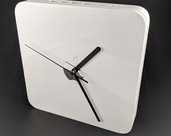 Wall clock made from Apple Time Capsule