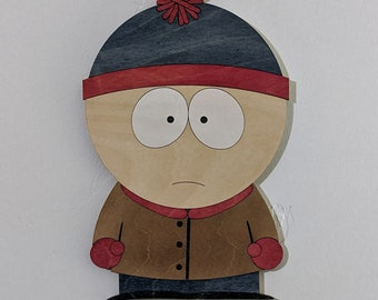 Stan Marsh from South Park Wood Sign Wall Art