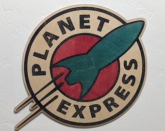 Planet Express Wood Sign Wall Art