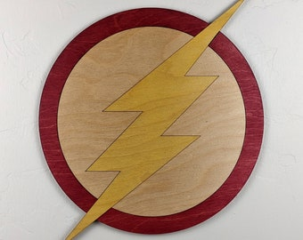 The Flash Wood Sign Wall Art