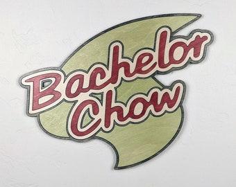 Bachelor Chow Logo Wood Sign Wall Art