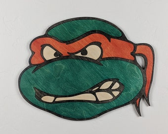 TMNT Teenage Mutant Ninja Turtles Wood Sign Wall Art