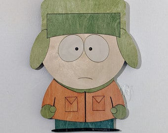 Kyle Broflovski from South Park Wood Sign Wall Art