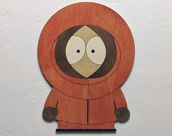 Kenny McCormick from South Park Wood Sign Wall Art
