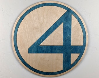 Fantastic 4 Wood Sign Wall Art