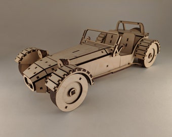 Lotus 7 Wood Model Car