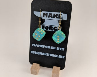 Handmade Dice Earrings, Many colors Available