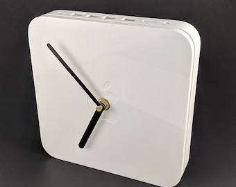 Wall clock made from recycled Apple Airport Extreme