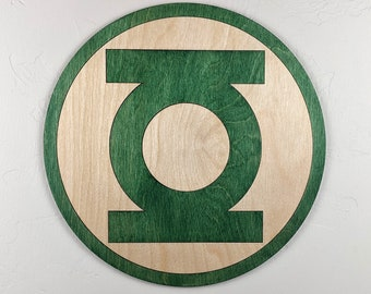 Green Lantern Wood Sign Wall Art