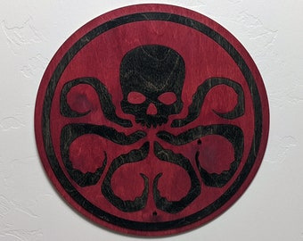 Hydra Logo Wood Sign Wall Art