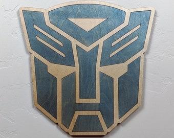 Transformers Autobots Wood Sign Wall Art