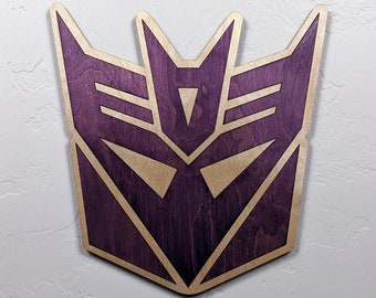 Transformers Decepticons Wood Sign Wall Art
