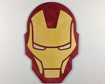Iron Man Wood Sign Wall Art