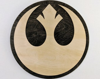 Rebel Alliance Wood Sign Wall Art