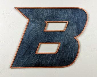 Boise State University B Logo Wood Sign Wall Art