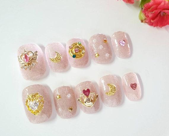 Cute Decoration Nail, Press On Nails by Etsy