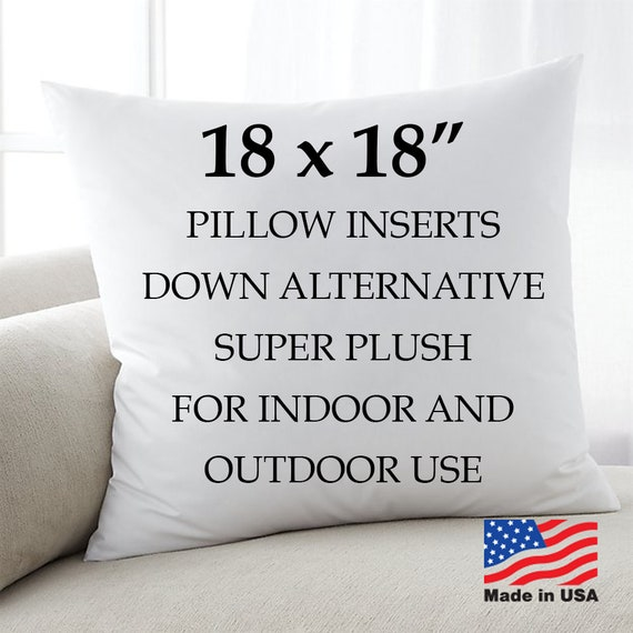 18x18 Throw Pillow Insert.18x18 Euro Pillow Inserts Form Insert Throw Pillow Inserts Square Toss Pillow Throw Pillow Fill Made In Usa Hypoallergenic Cushion Stuffing