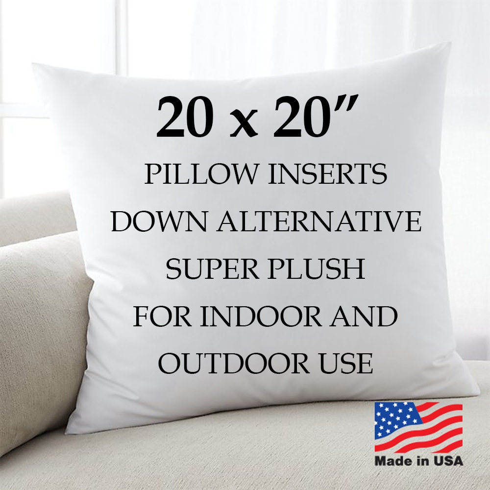 20x20 Throw Pillow Inserts Euro Toss Pillows Insert Form Etsy