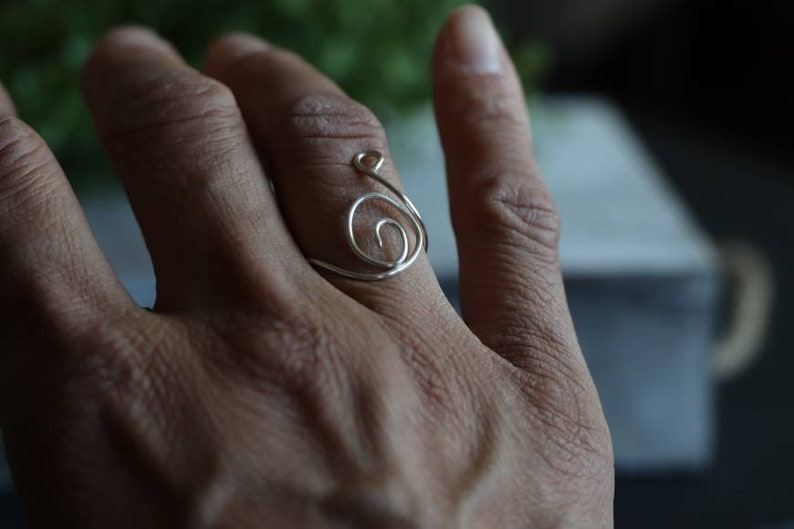 Wire Wrapped Adjustable Ring