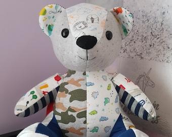 Custom Bear Keepsake Bear recycled bear Keepsake Memory Bear Custom Memory Bear from loved ones clothing Memory Bear Heirloom Bear