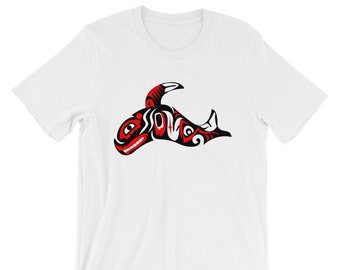 735881dcc Haida Orca Shirt Haida Clothing First Nations Art Pacific Northwest Shirt  Haida Whale Indigenous Clothing Inuit Art Abstract Whale