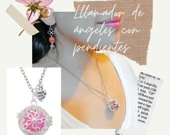 La tienda de Rita Llamador de /ángeles con flores 25 mm personalizable