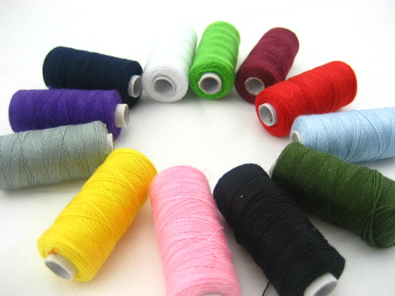 brown Jeans shoes bags thread real strong thick Sewing thread Spools thread