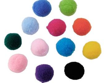 2cm Wolle flauschige Haare Pompon Ball für Schlüsselanhänger Handtasche Decor-5X