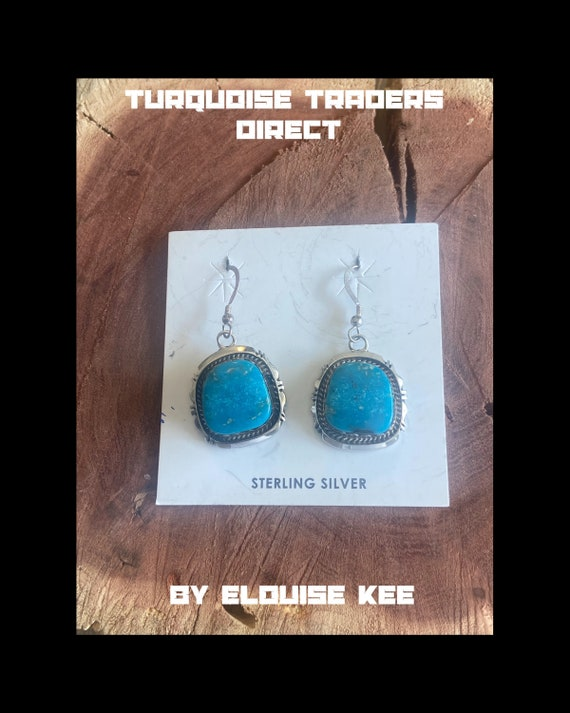 Elouise Kee Turquoise & Sterling Silver Dangles