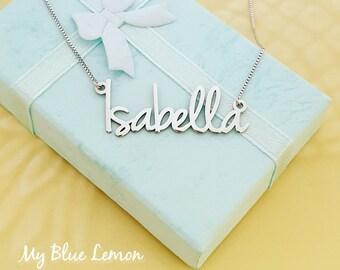 d5e470899175 Isabella Name Necklace  Silver Name necklaces
