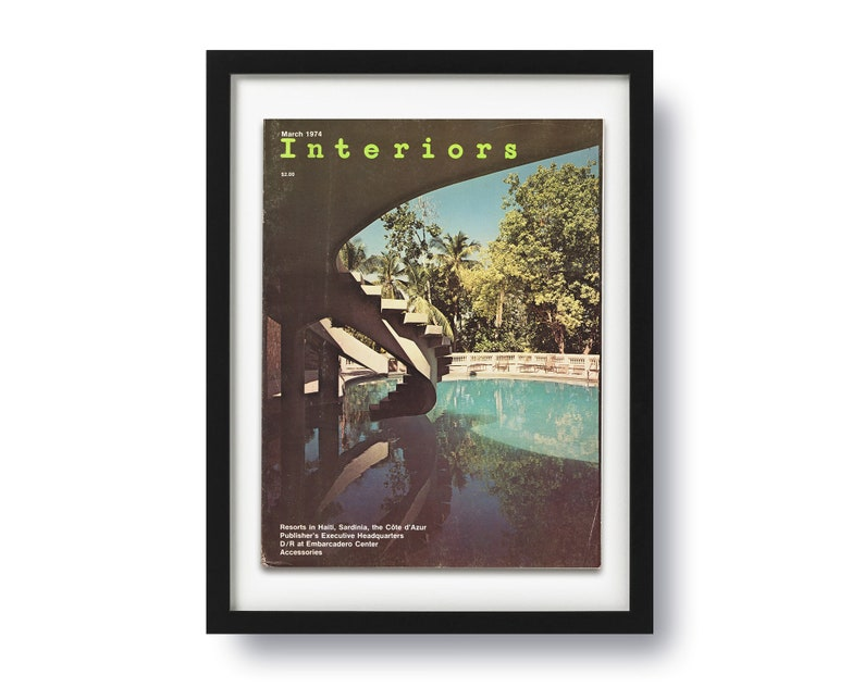Vintage Cover Poster Photo Print Home Decor Interiors Magazine March 1974 Issue