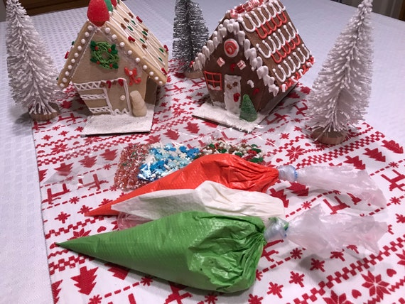 Christmas Gingerbread House Kit.Mini Gingerbread House Kit