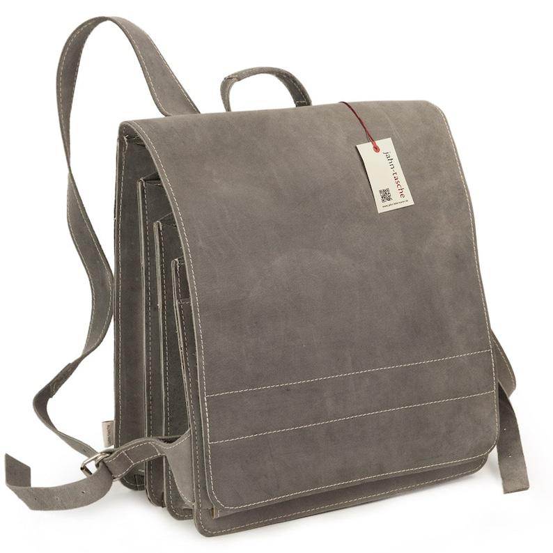 9e2c43c2a6a56 Sehr Großer Lederrucksack   Lehrer-Rucksack für Damen und