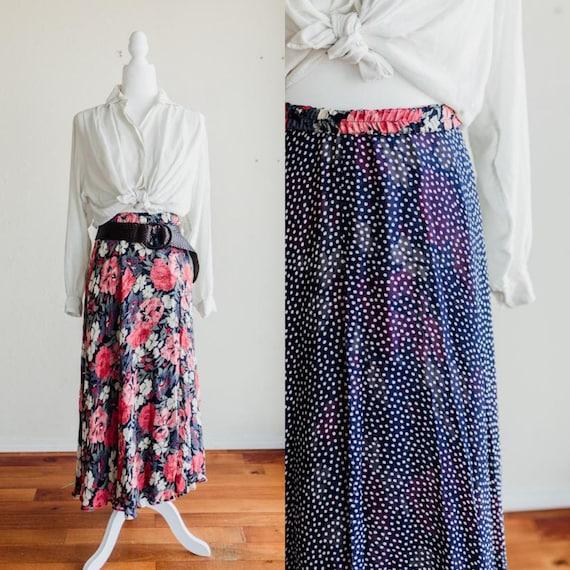floral maxi skirt   polka dot maxi skirt   pink fl