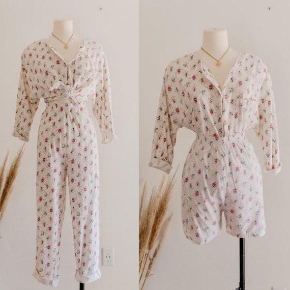 floral VS pajama set - m/l | 90s victorias secret