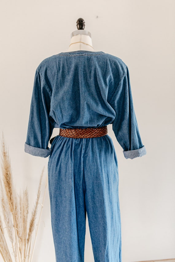 blue denim romper | denim pants jumper | blue cot… - image 10