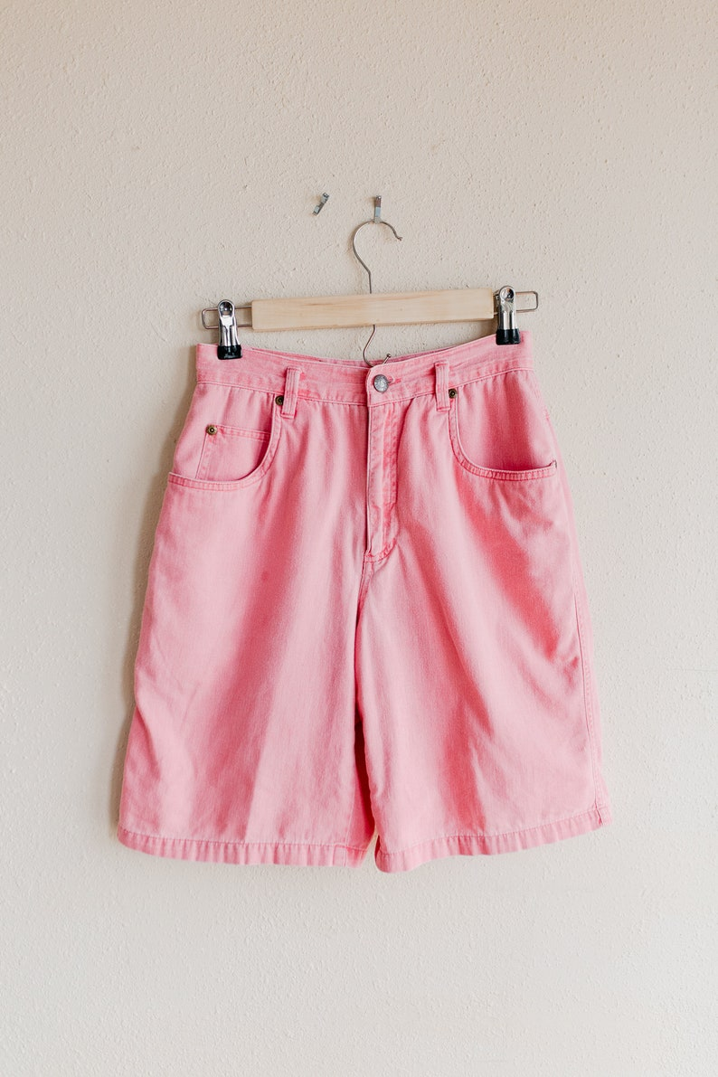 Vintage Pink Shorts High Waisted Jean Shorts Size 4