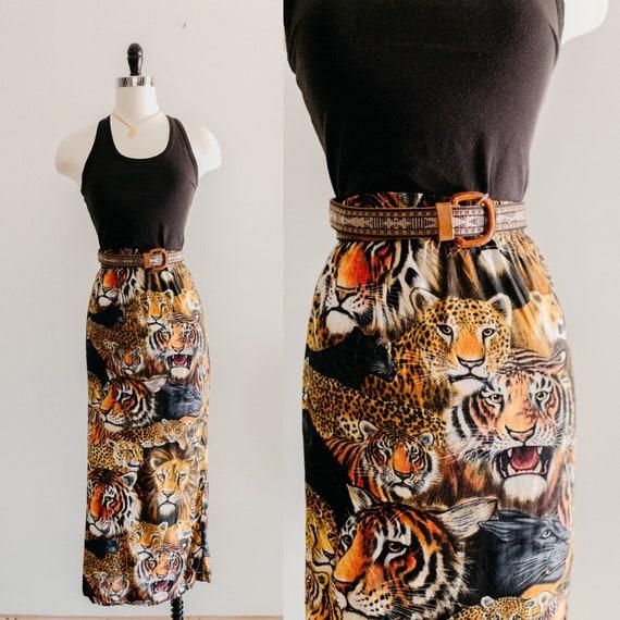 big cat maxi skirt | tiger lion panther maxi skirt