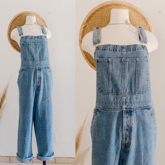 Y2K Old Navy overalls - L | blue denim overalls |