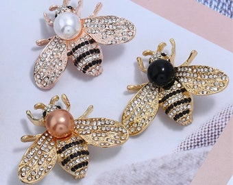 019cb0769ff Bumblebee brooch bow brooch  DIY supplies Men s Brooch   Women s Brooch    Pearl Brooch KQ