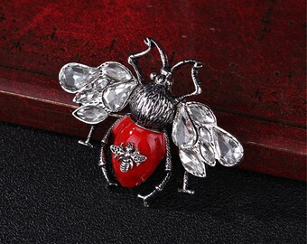 592777d52c5 Bumblebee brooch bow brooch  DIY supplies Crystal Brooch