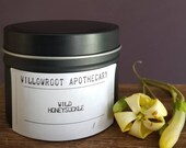 Wild Honeysuckle a strong scented soy wax candle by Willowroot Apothecary