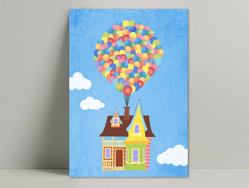 image regarding Up House Printable known as Up electronic down load / Up poster minimalist / Up residence printable / Up Area ballon / Up property ballon print / Up video poster / Up print