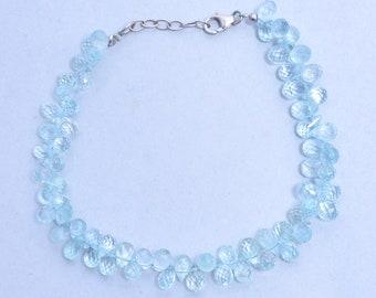 d3a8387b10 Aquamarine tear drop | Etsy