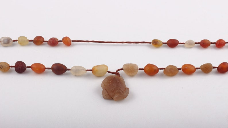 100/% Natural Unique Multi Color Raw DESERT GOBI AGATE Beaded Necklace-Raw Unshaped Tumble-Elegant Gift-Designer Handmade Neck piece Rarest