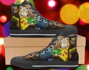 low priced c64b1 e98ed Pokemon shoes, Pokemon high tops, Pokemon sneakers, look like converse,  Women s Men s Kid s Hi Tops, clothing