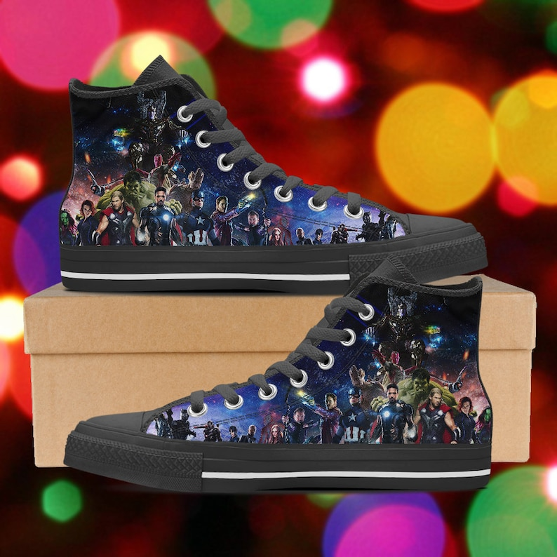 005598a7857 Avengers shoes Infinity war high tops Avengers sneakers